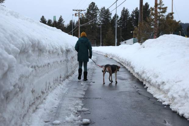 Snow removal crews have still been able to keep Truckee trails cleared.