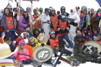 Michelle Parker, Ben Paciotti claim Golden Saucers at Pain McShlonkey Hot Dog Downhill