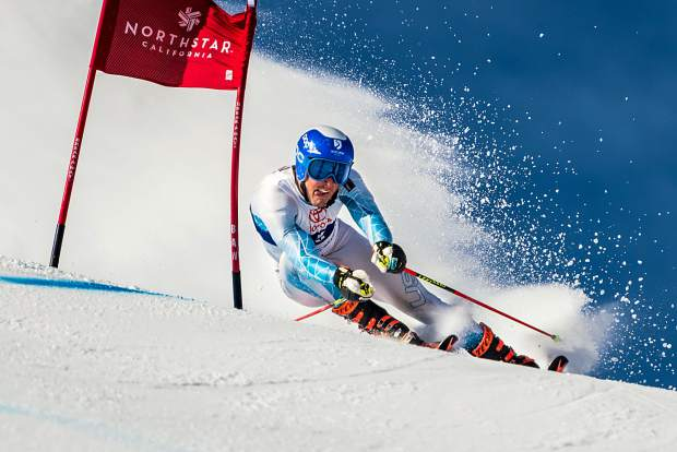 Squaw's Jordan Cashman took second in giant slalom last Thursday at the Western Region Junior Championships.
