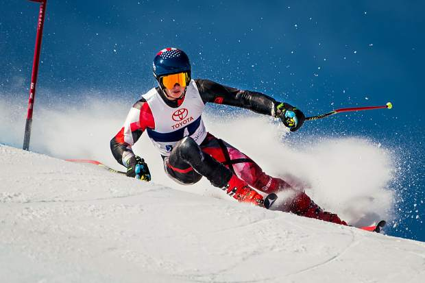 Winston Pretti posted a third-place finish in slalom last Sunday.