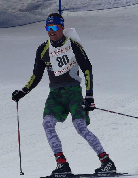 Wyatt Fereday, of Carson City, won the men's race and was the first to cross the finish line.