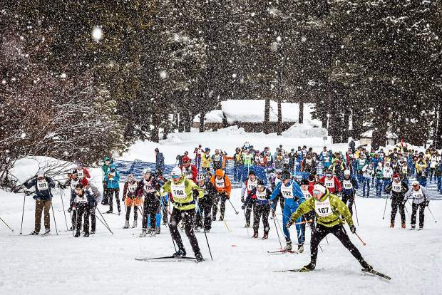 More than 350 Nordic athletes showed up to take on The Great Ski Race this year, battling elements on the 30-kilometer course from Tahoe City to Truckee.