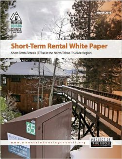 Mountain Housing Council releases report on short-term rentals in Truckee, North Tahoe