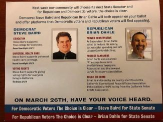 Voters: Political mailer supporting Dahle for state Senate 'incredibly deceptive'