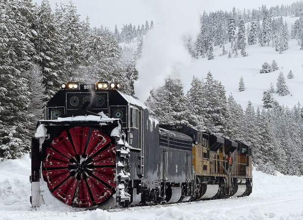 It's not often the rotary snowplow has to make an appearance but nice when it does.