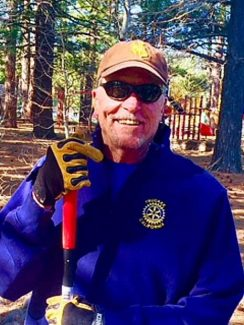 Sun Snapshots: The Rotary Club of Truckee working hard on a Rotary Work Day