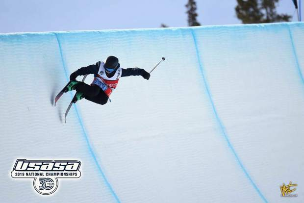Mack Winterberger competes in halfpipe during the national championships held earlier this month at Copper Mountain.