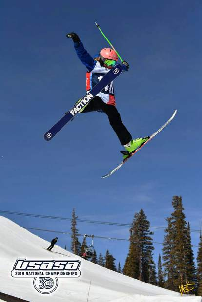 Abby Winterberger throws some style off a jump at the USASA National Championships.