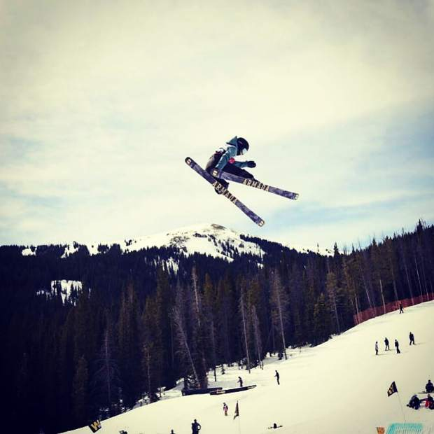 Moera Adams airs it out during the USASA National Championships at Copper Mountain.