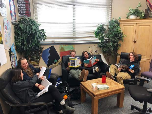 Readers are leaders - students from North Tahoe High setting a great example!