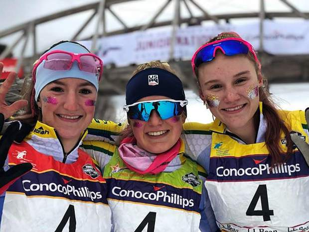 North Tahoe Laker U16 relay team take 5th place at Junior National XC Ski Championships in Anchorage Alaska.
