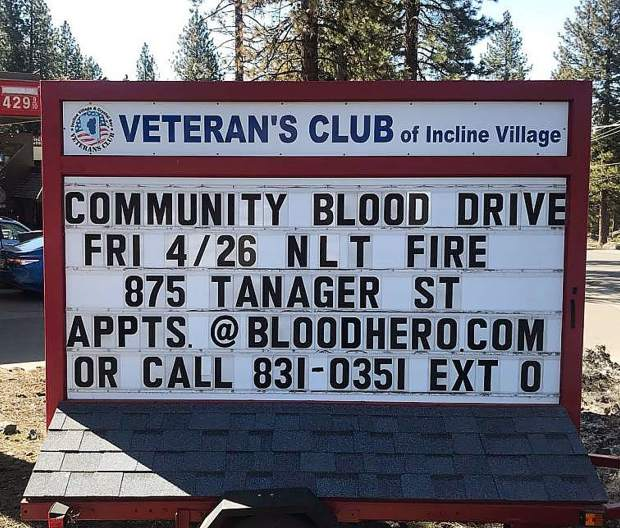 Community blood drive taking place today.