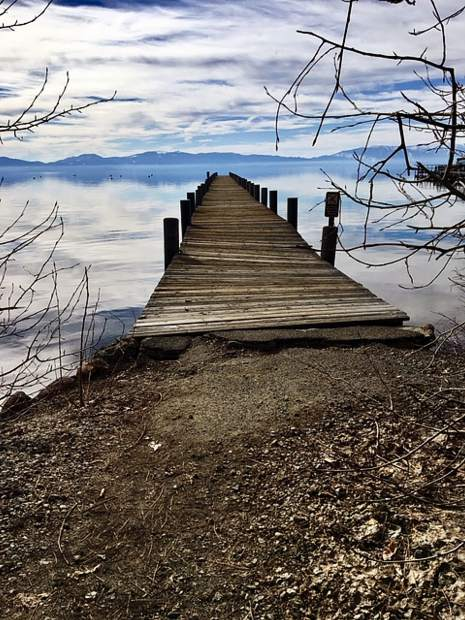Warped Pier in Tahoe City near Boatworks.