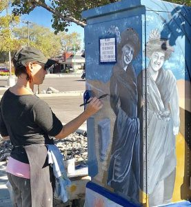 Public (utility) art: North Tahoe artists bring touch of color to Fallon's history