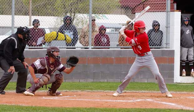Senior Shane Poe awaits a pitch during the Northern League tournament in Elko.