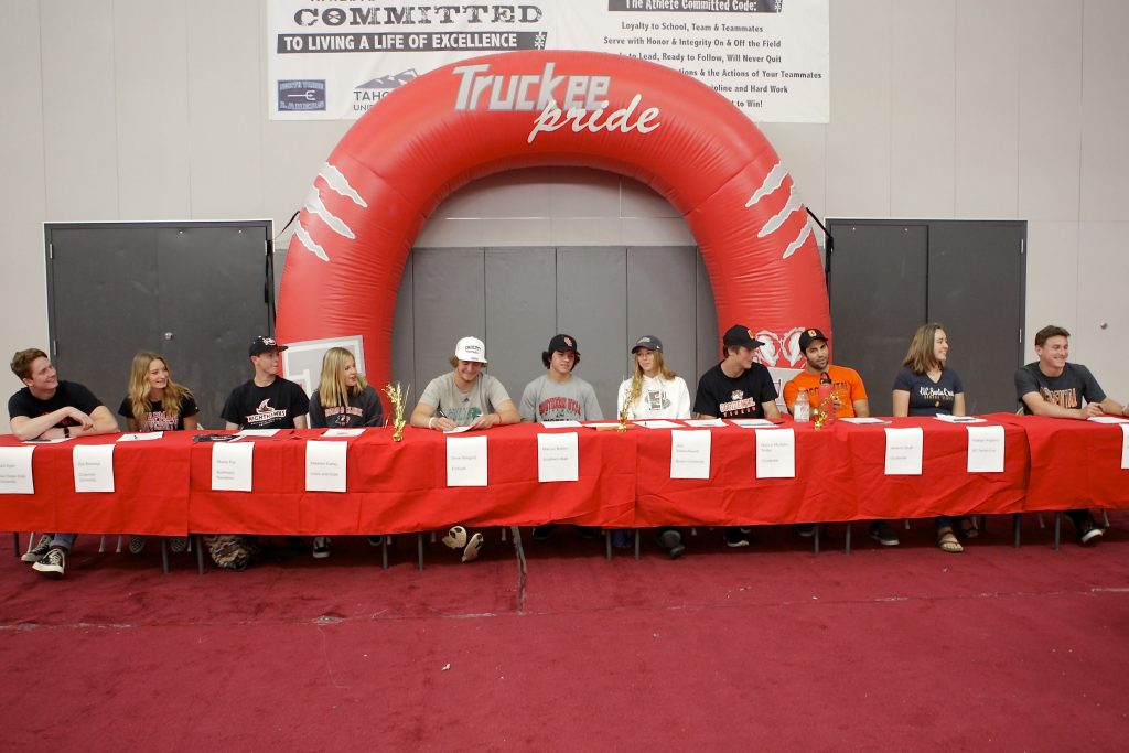 Eleven Truckee student-athletes signed National Letters of Intent on Friday.