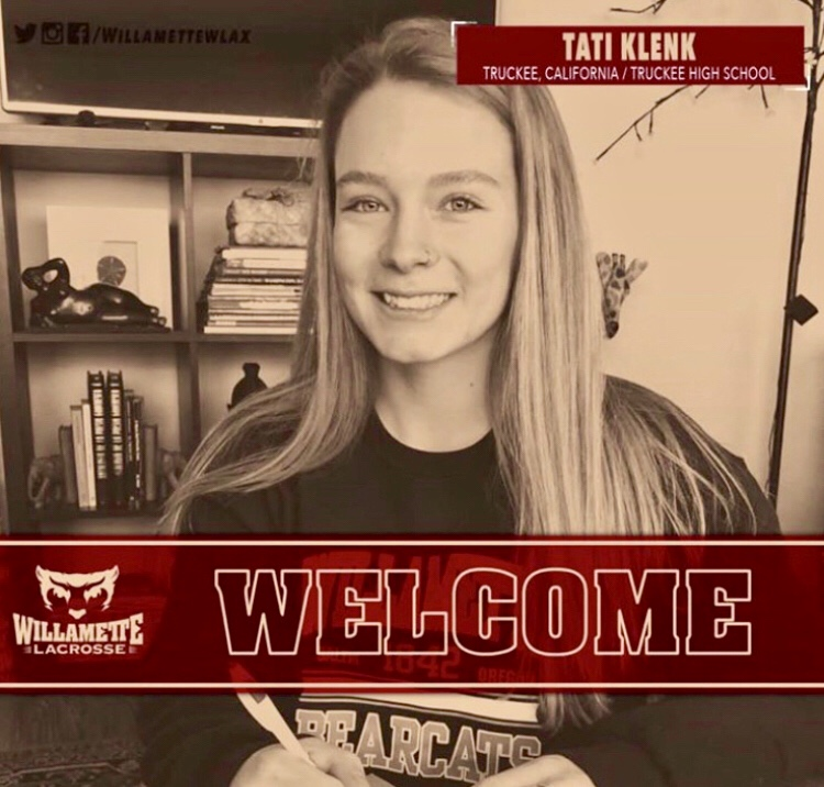 Tatiana Klenk will continue competing in lacrosse and will attend Willamette University in Salem, Oregon. She plans on studying kinesiology and exercise science.