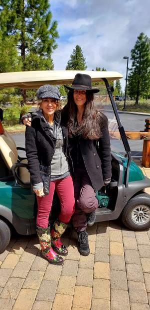 The EJ Tegner Foundation Golf Tournament on 5/16 raised over $11,000 for Golf oriented scholarships, clinics and equipment for Truckee and North Tahoe youth. Pictured here are Viviane Sabol and Marilyn Wood.