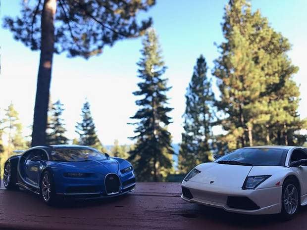 11 year old Izaac Bonner set up his 3x5 die cast cars and took this creative picture with his phone.