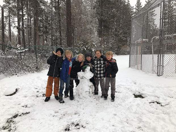 Just a May Day on the playground at Tahoe Lake Elementary at Rideout.