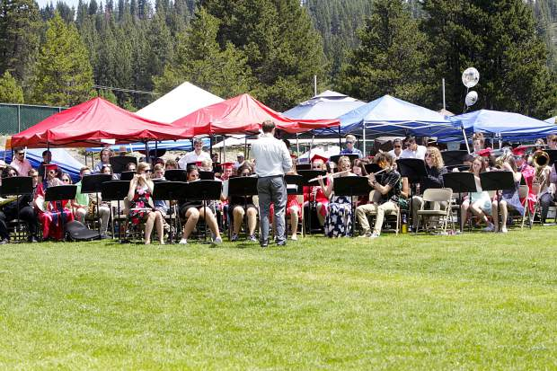 The Truckee High School Band performs during graduation on Saturday, June 15.