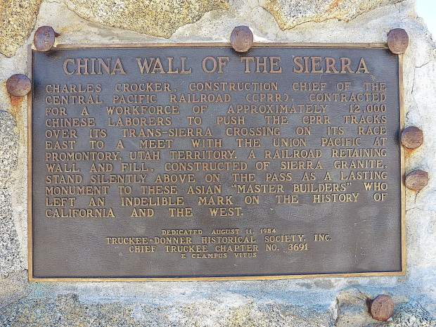 The Chinese contribution to the Central Pacific Railroad was immeasurable. For one, they were responsible for blasting and digging out 15 tunnels through solid granite. Sierra granite is dense rock and was glacier-covered with over 20 feet of snow.