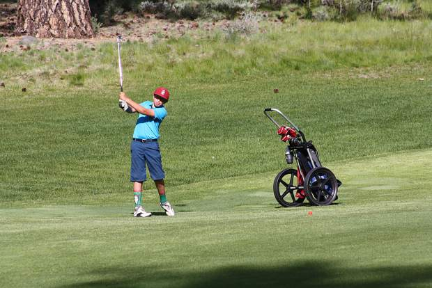 Tahoe City's Ty Whisler watches his shot at Old Greenwood on June 5.