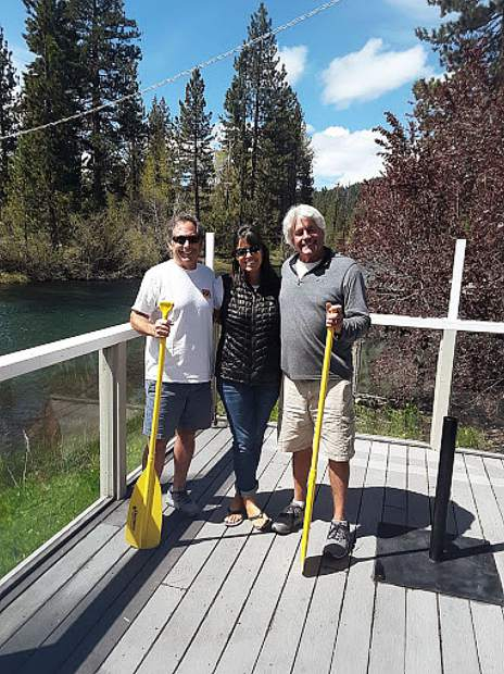 Getting ready for summer on the Truckee River. Ryan Bell, Jenifer Courcier and Richard Courcier of Truckee River Rafting.