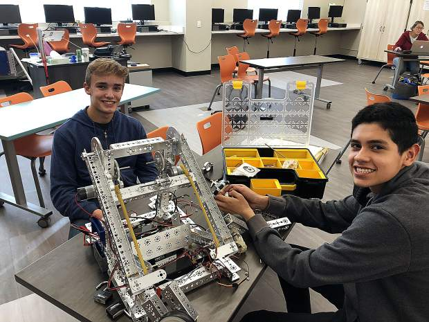 Students in Truckee High's engineering lab are designing projects and programming robots to complete tasks for people that include machines to turn the pages while you read.