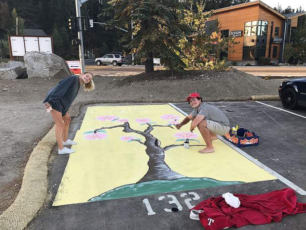 After talking with seniors, they were given the opportunity to paint their own parking spots this year. Their unique and colorful artwork adds to the welcoming feel of the West Wing.