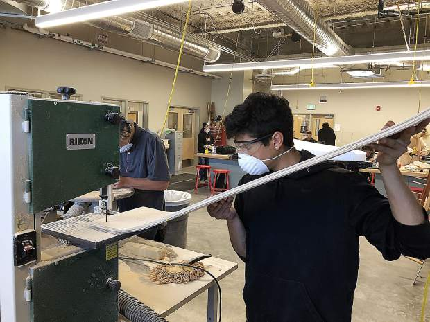 In addition to wide hallways and modern classrooms, we have the fabrication lab where our new Gone Boarding Pathway allows students to design and construct all types of boards, including surfboards, snowboards, skateboards, stand-up paddleboards and wake surfboards.