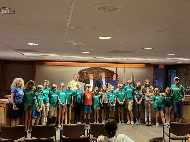 Elementary school students from all around North Lake Tahoe presented the progress of their Green Team sustainability clubs to Truckee Town Council on Tuesday.
