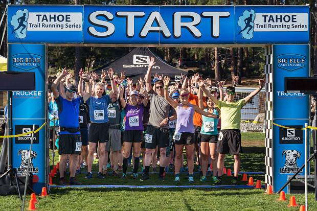 Runners await the start of the Waddle Ranch Half Marathon. Visit LefrakPhotography.com for more race photos.