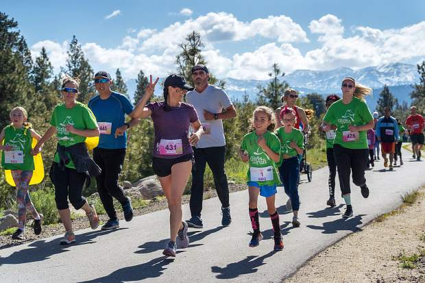 Members of Girls on the Run — Sierras race at the Truckee Running Festival. Visit LefrakPhotography.com for more race photos.