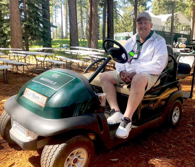 Zephyr Cove resident Dick Horn has volunteered at the American Century Championship for the past 27 years.