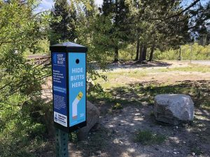 Lake Tahoe environmental groups installing cigarette butt cannisters to cutdown on litter