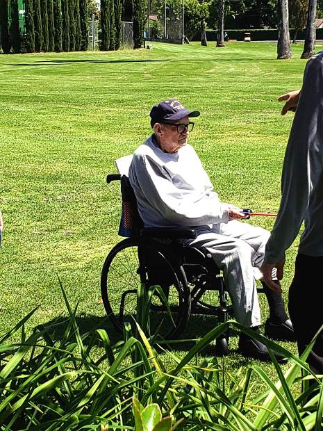 Stephen Layton, 100, of South Tahoe, recently became the oldest veteran to graduate from the PGA Helping Our Patriots Everywhere program.