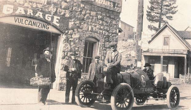 The Stone Garage tended to motorists crossing the Sierra on the Lincoln Highway. Though this ride was a