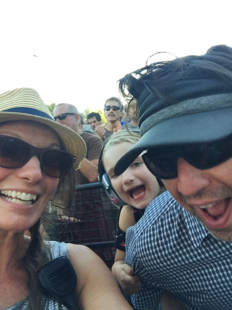 Corinne Cuneo Calstrom snapped this selfie of her family enjoying some music.