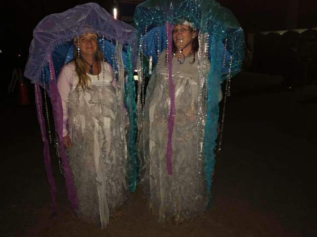 Lisa Yesitis and her friend Debi Portelance dressed up like jellyfish last year for the theme Under The Sea.