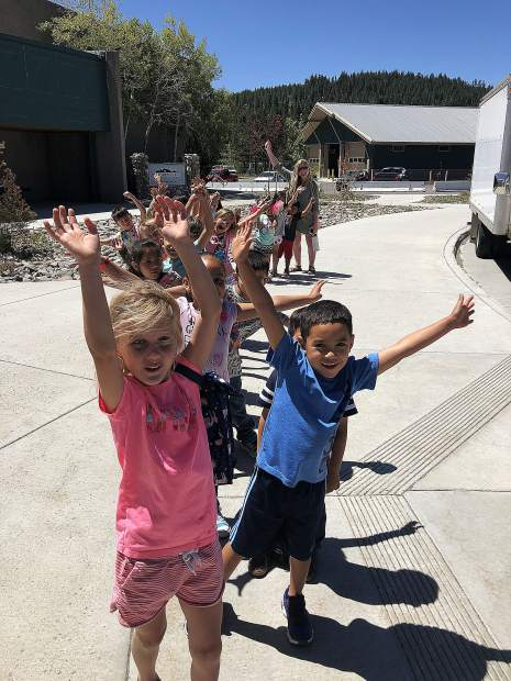 Summer programs kicked off Monday, July 8. Pictured are kinders participating in K-Camp and some older students (grades 1-5) participating in Summer Scholars.