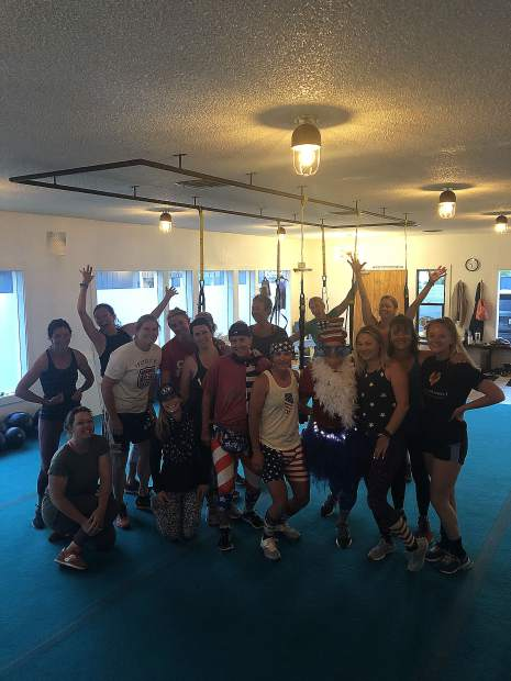 This spirited group of local Tahoe gals got in their Independence Day Bootcamp workout bright and early at Tahoe Fit!