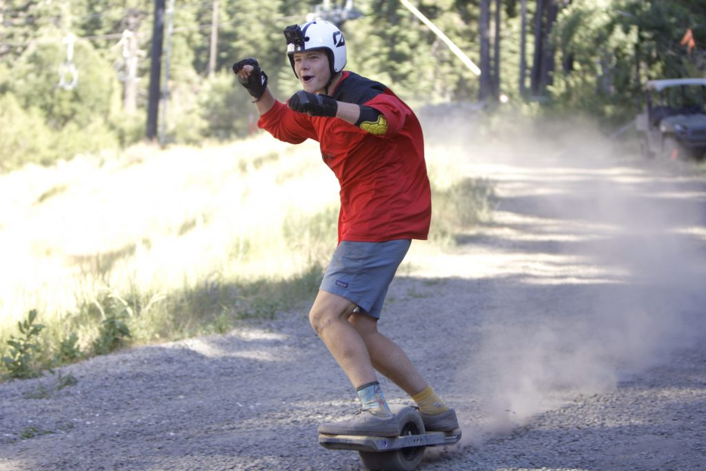 Dominique Williams, 15, rides to a first-place finish at the Race for the Rail competition at Northstar on Saturday, Aug. 3.