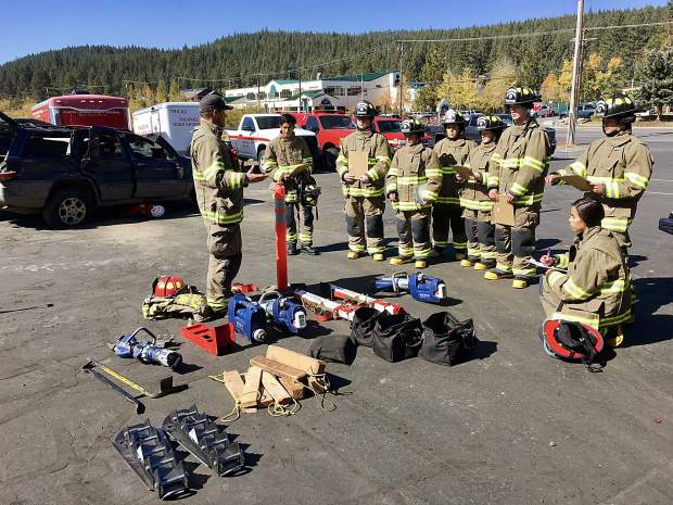 Every other week students participate in training sessions with the Truckee Fire Protection District.