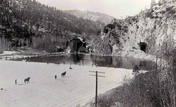 The large quantities of ice harvested in the Sierra depended on cheap transportation. The completion of the Transcontinental Railroad in May 1869 enabled the distribution of Truckee ice to distant markets.