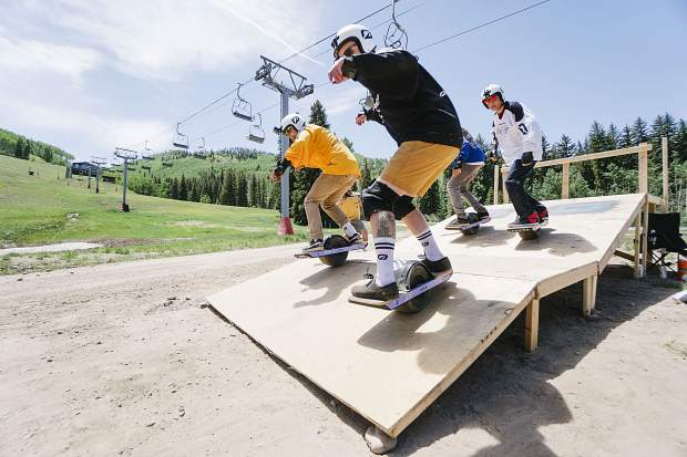 Onewheel's Race for the Rail competition highlights the weekend events at Northstar California Resort.