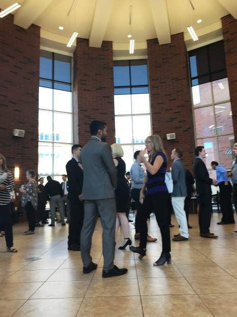 Sarah Coolidge was recently featured as the facilitator for a University of Nevada-Reno College of Business Networking event. Approximately 50 business students and local business leaders attended, offering the students an opportunity to learn and practice networking skills to land their first post-graduation jobs, as well as use throughout their careers. Ms. Coolidge is the director of the Reno/Tahoe Networking group, and lives in Kings Beach, CA.