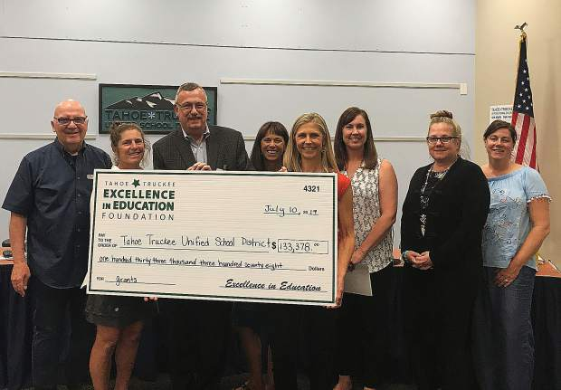 Excellence in Education Foundation presented Tahoe Truckee Unified School District $133,378 which represents the total from 70 individual classroom grants.