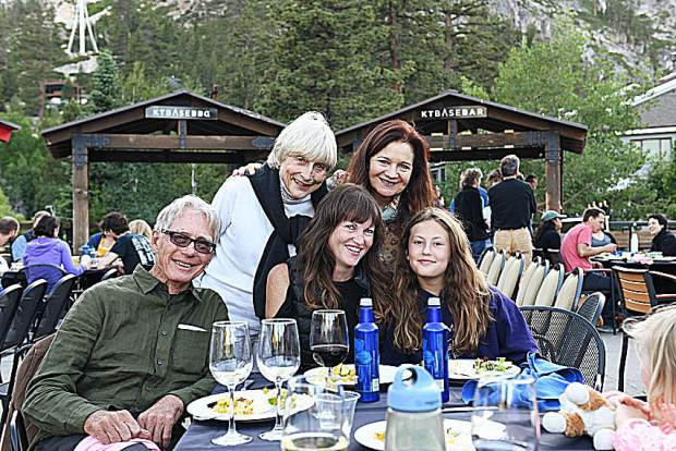Top: Screenwriting Program Director Diana Fuller, Screenwriter Patricia K. Meyer. Bottom: Filmmaker, Christopher Upham, Tom Rickman's daughter Megan and granddaughter Lily.