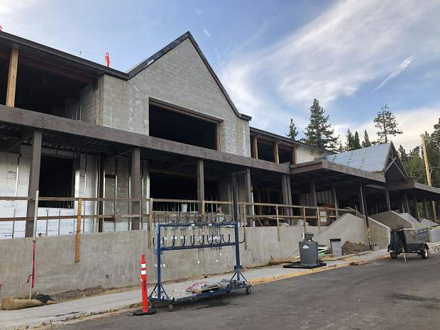 Major construction at Tahoe Lake Elementary is still underway but two years behind schedule.